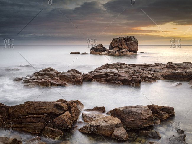 Long exposure landscape image at gannet rock.
