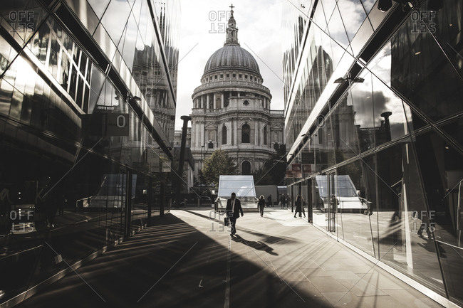 London, United Kingdom - September 7, 2015: The famous St: Paul's Cathedral in London