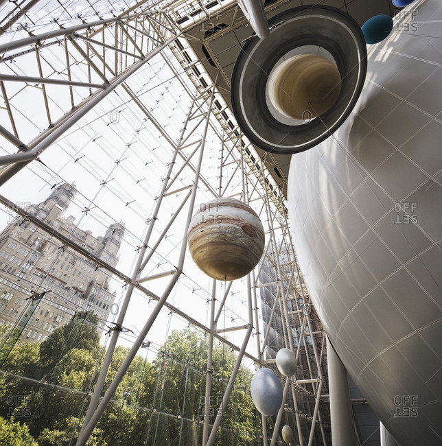 USA, New York, New York City - June 12, 2017:  American Museum of Natural History, the Rose Center for Earth & Space