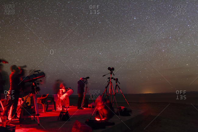 Amateur astronomers gather under dark sky of a desert in Iran to attend an annual observing competition known as the Messier Marathon.