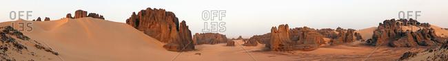 Panoramic view of Tassili National Park in Sahara.