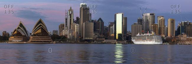 Sydney, New South Wales, Australia - July 31, 2015: Sydney skyline and the Opera House.