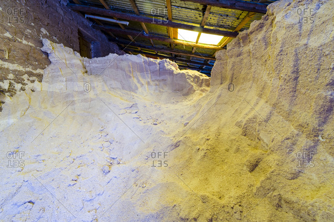 A mound of salt ready for sale.