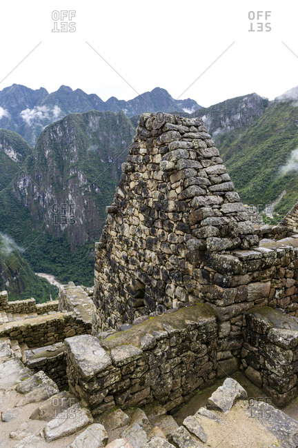 A trapezoidal wall in a residential building at Macchu Picchu.