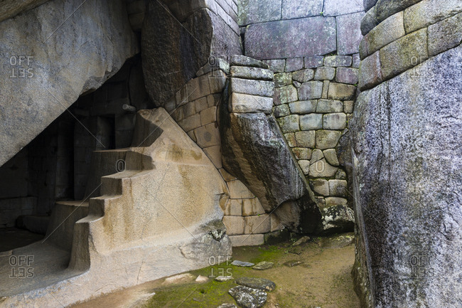 The Temple of the Condor features a carving of an Andean Condor and an alter in a natural cave.