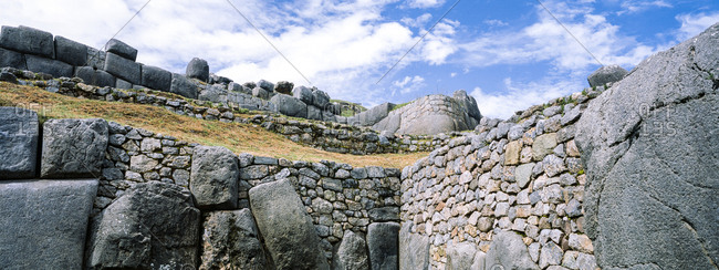 The Inca carved interlocking dry-stone walls from boulders.