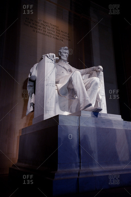 The Lincoln Memorial in Washington, District of Columbia.