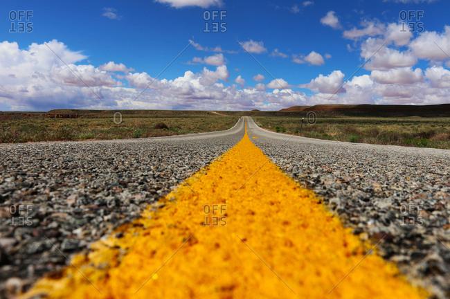 The empty Utah Highway 261.