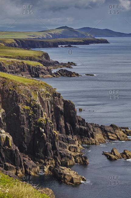 Cliffs on the southwest coast of the Dingle Peninsula.