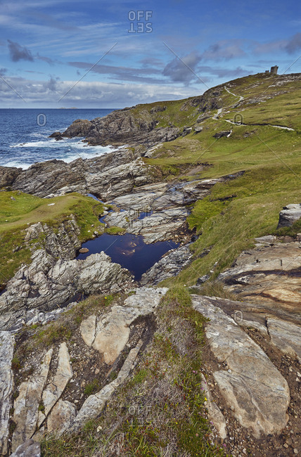 Rocky coastline at Malin Head.