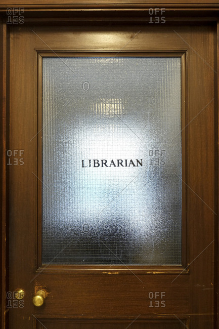 Old office door of librarian