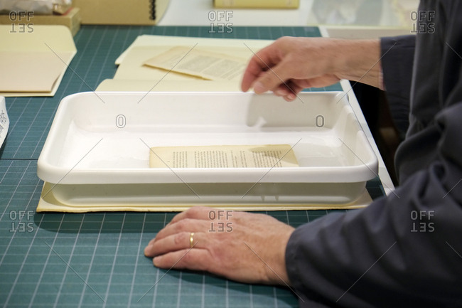 Historian with an document