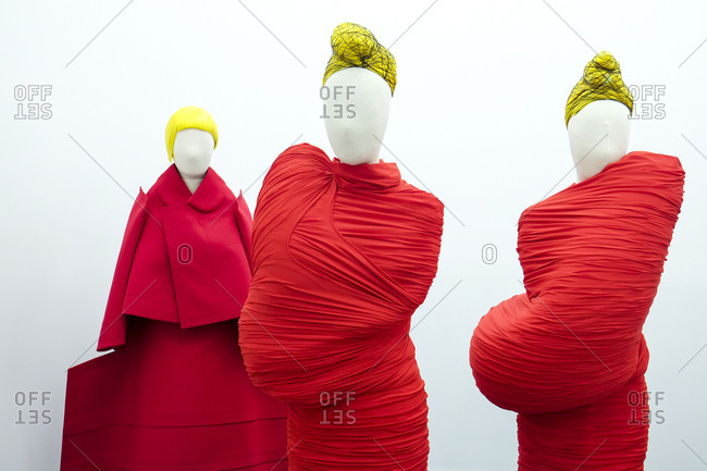 New York City - June 8, 2017: Mannequins in avant garde fashion