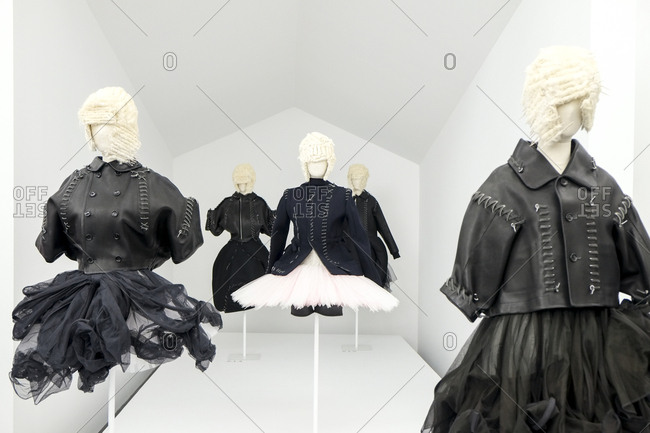 New York City - June 8, 2017: Mannequins in avant garde clothing