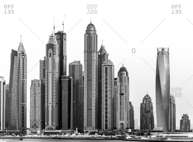 November 12, 2013 - Dubai, UAE: Modern city skyline