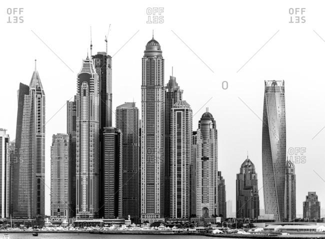 November 12, 2013 - Dubai, UAE: Modern city skyline