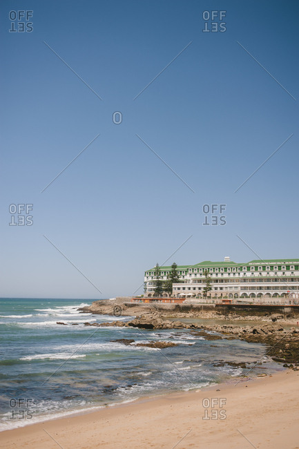 Beach and hotel scene, Portugal