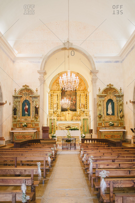 Interior of small church, Gradil, Portugal