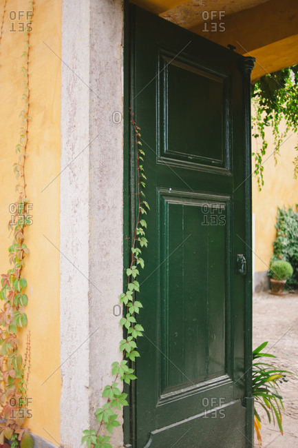 Door to courtyard of Portuguese house