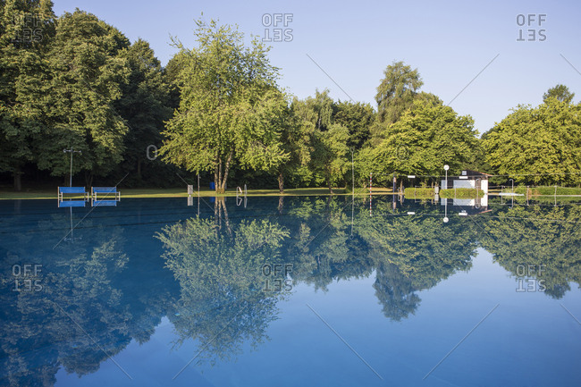 Luxurious outdoor swimming pool