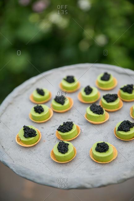 Caviar canap�s for a wedding
