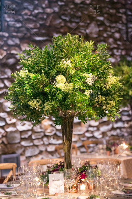 Large branch centerpiece for wedding