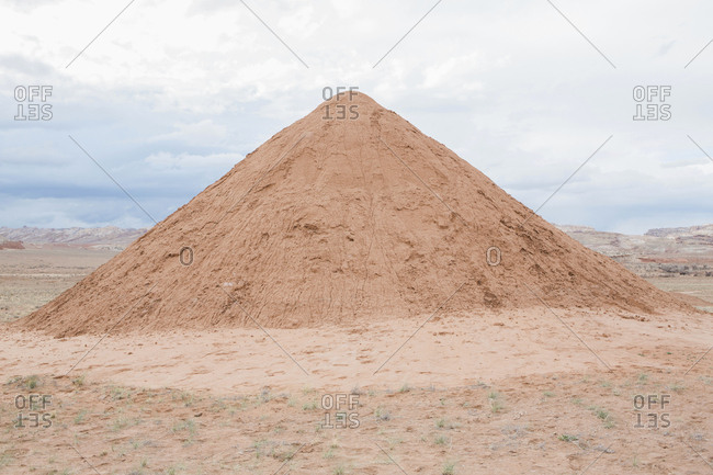 Dirt pile in Bears Ears National Monument area