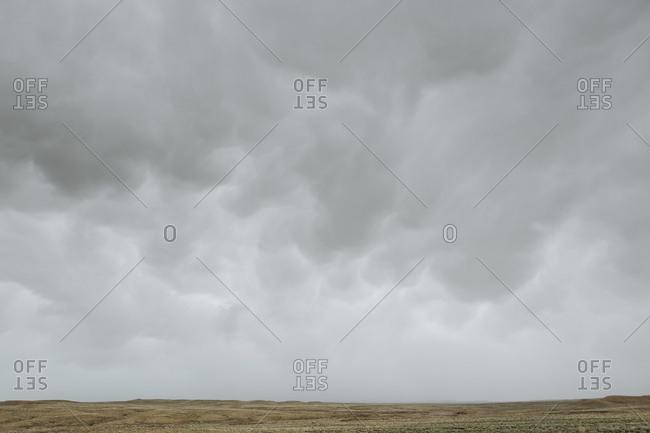 Ominous storm clouds over vast desert in Bears Ears National Monument