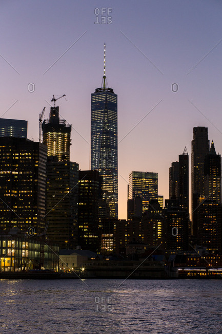 One World Trade Centre at night