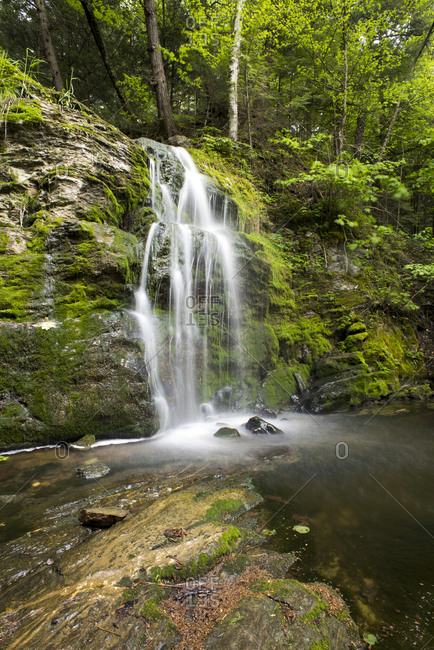 Spring view of Bittersweet Falls in Weybridge, Vermont