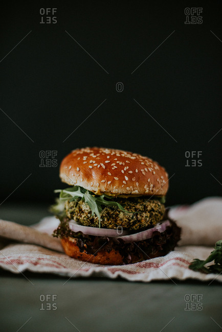 A beetroot burger