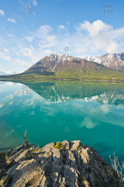 Peaks reflected in water, Kenai Peninsula, Alaska