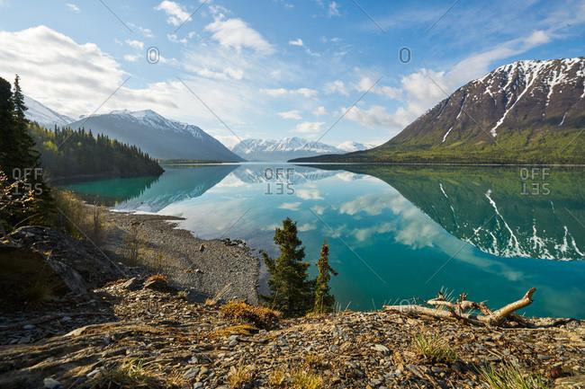 Peaks reflected, Kenai Peninsula, Alaska