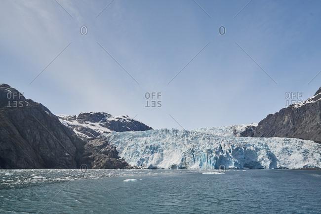 icy shore, Kenai Fjords National Park, Alaska