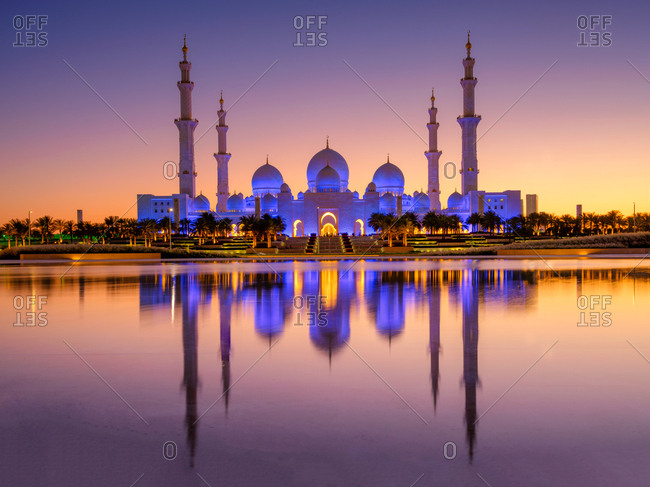 Grand Mosque during the blue hour
