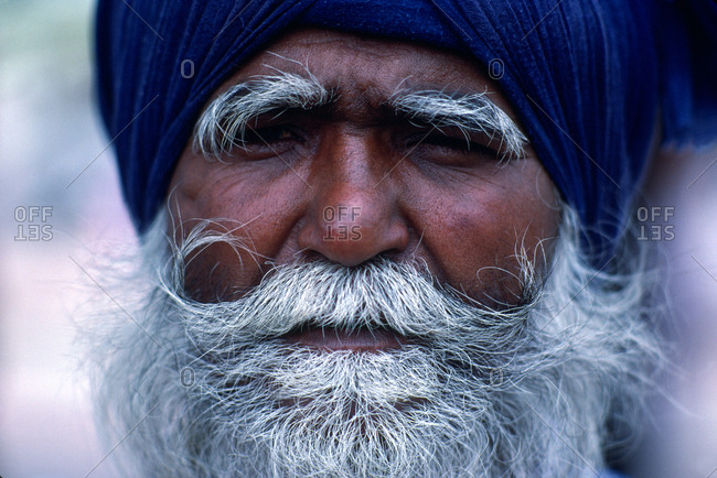 A Sikh man in close up