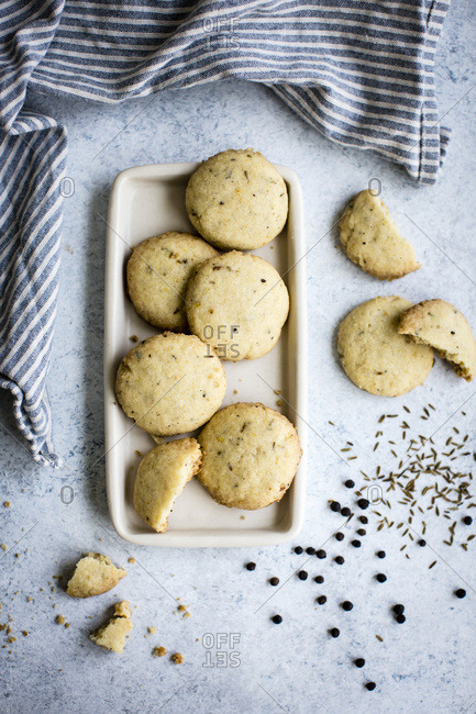 spiced cookies sables cumin black pepper