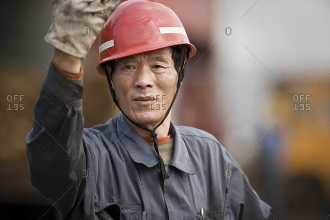 A construction worker on site