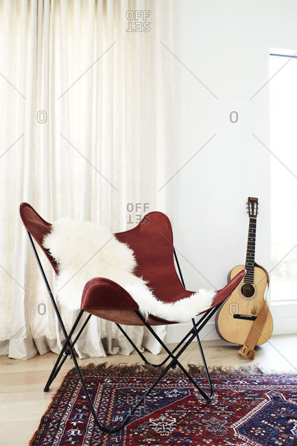 Folding chair in modern home