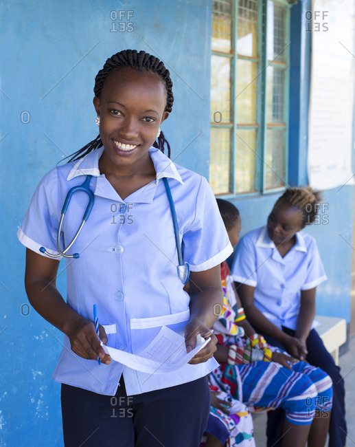 Portrait of Nurse in a clinic in Kenya, Africa