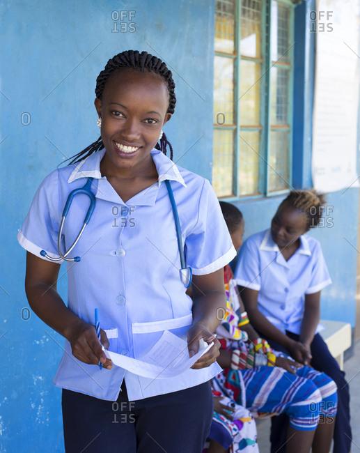 Portrait of Nurse in a clinic in Kenya, Africa