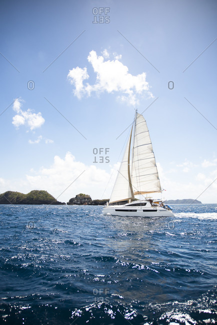 Lesser Antilles, The Caribbean - February 27, 2016: Sailing cruise through the Windward Islands
