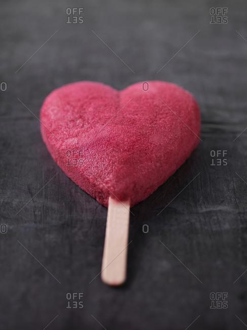 Heart-shaped ice cream bar