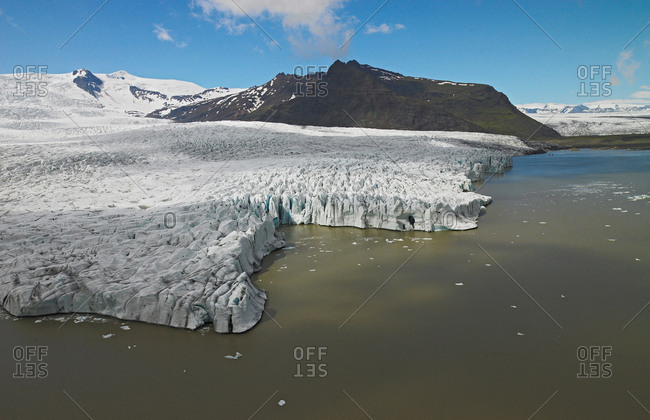 Elevated view of the Fellsjokull glacier, South East Iceland
