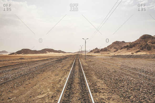 Railway tracks in Jordan