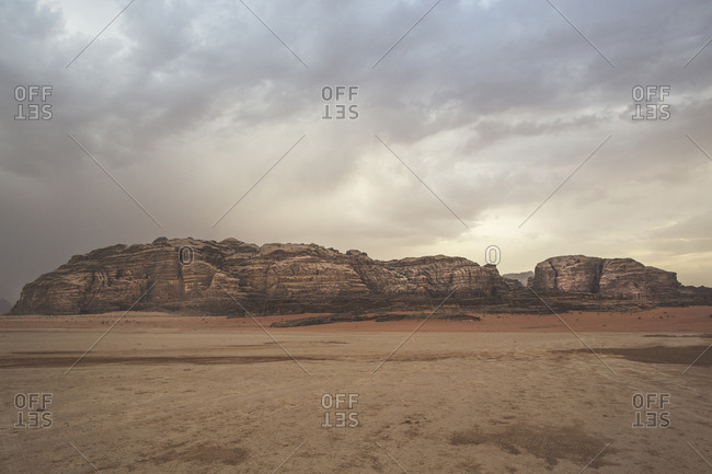 Petra, Jordan - 13, September 2015. View from the King's Highway in Jordan
