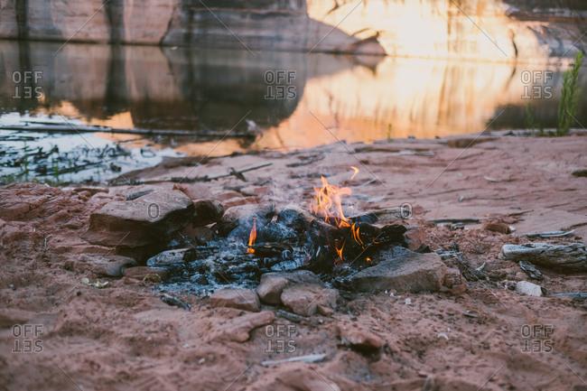 Campfire at Lake Powell