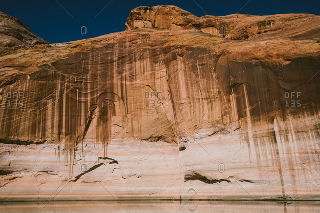 Sandstone cliffs by Lake Powell
