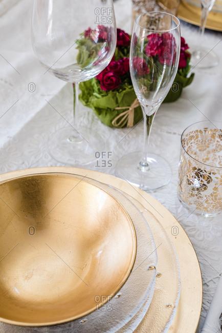 Christmas decoration tableware