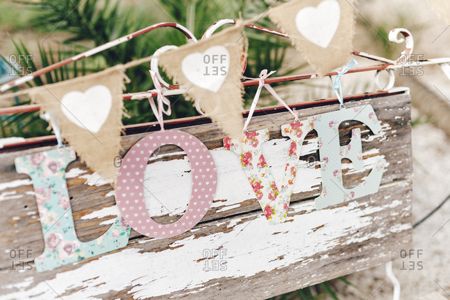 Wedding decorative set